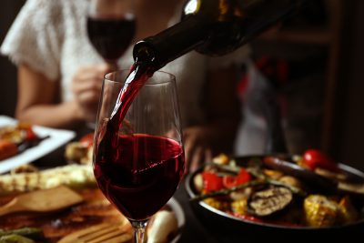 Benefits of a glass of wine with food